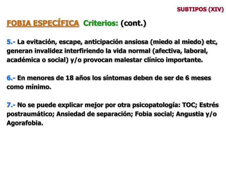 SUBTIPOS (XIV)