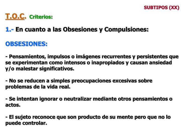 SUBTIPOS (XX)