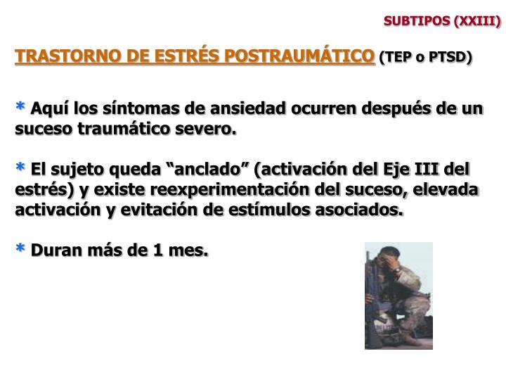 SUBTIPOS (XXIII)