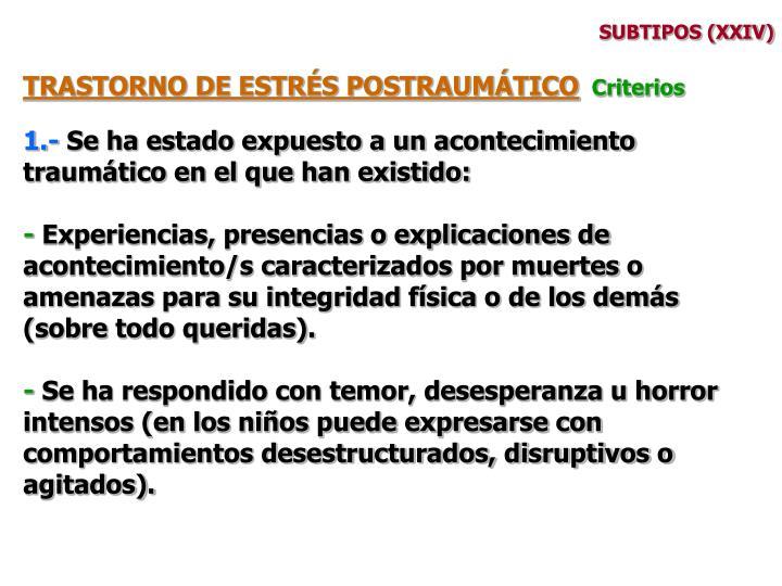 SUBTIPOS (XXIV)