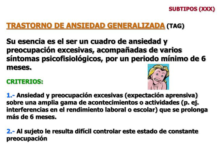 SUBTIPOS (XXX)