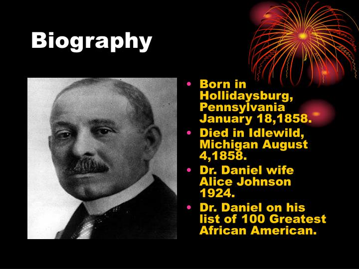 Ppt Dr Daniel Hale Williams Powerpoint Presentation Id7058364