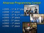 arkansas programming contest