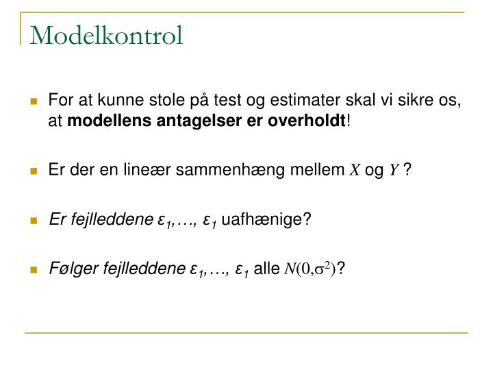 Modelkontrol