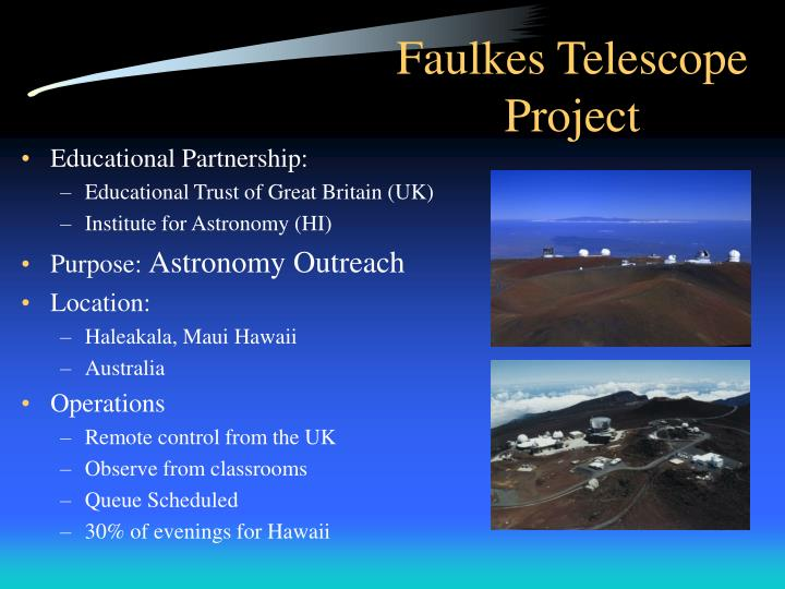 Faulkes telescope project