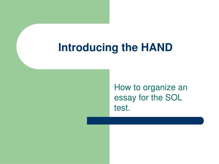 introducing the hand n.