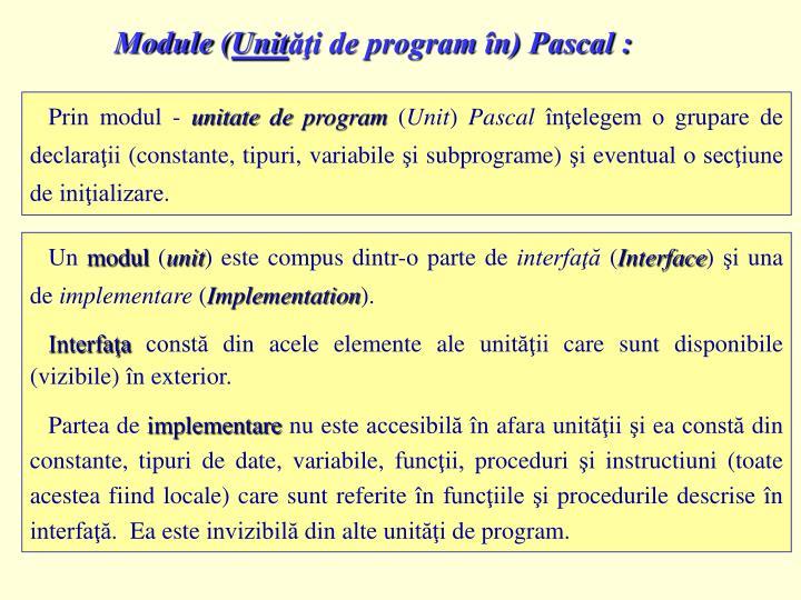 Module (