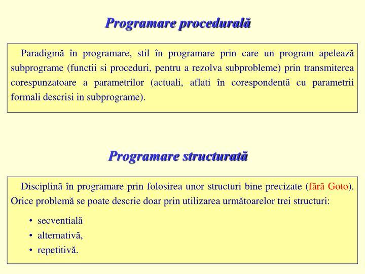Programare procedurală