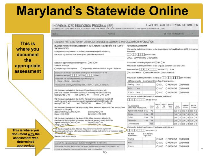 Maryland's Statewide Online