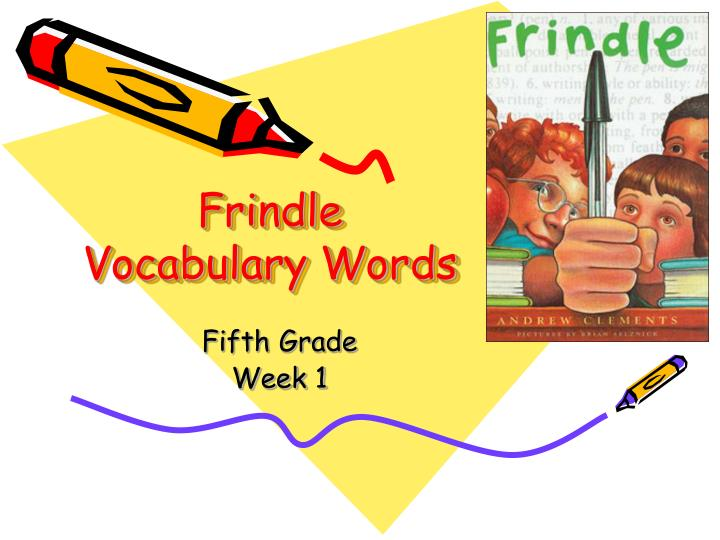 frindle vocabulary words n.