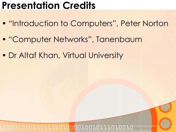 Presentation credits