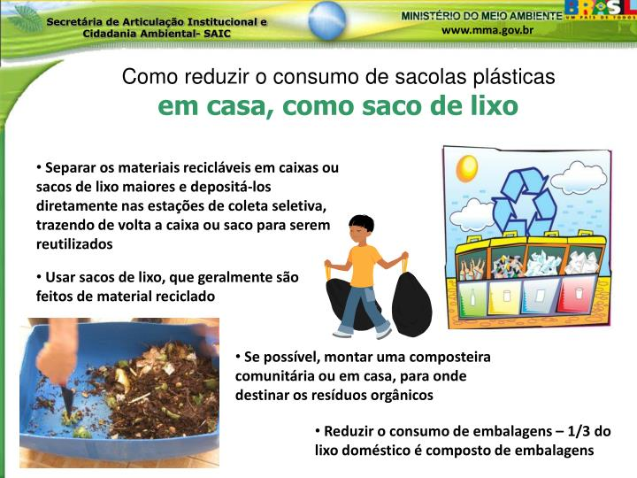 Como reduzir o consumo de sacolas plásticas