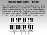 tones and semi tones