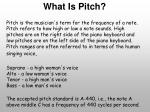 what is pitch