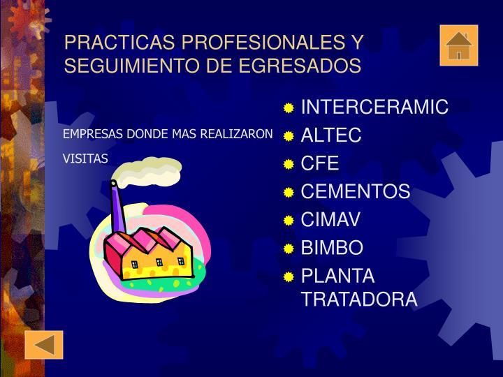 PRACTICAS PROFESIONALES Y
