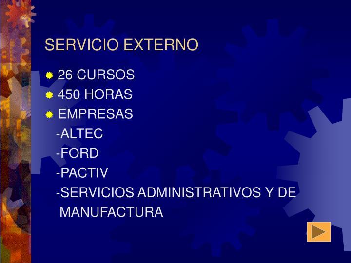 Servicio externo