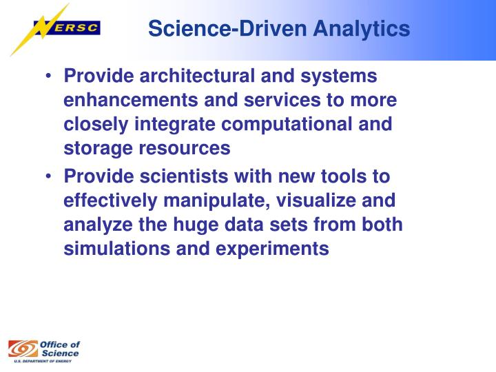 Science-Driven Analytics