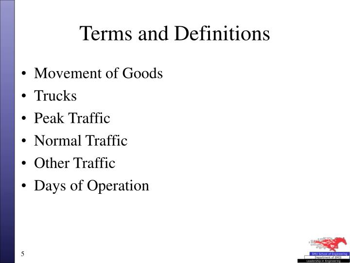 Terms and definitions1