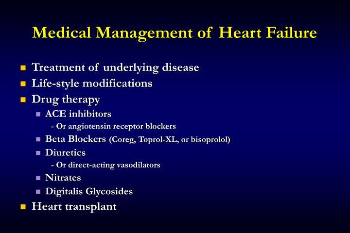 Medical Management of Heart Failure
