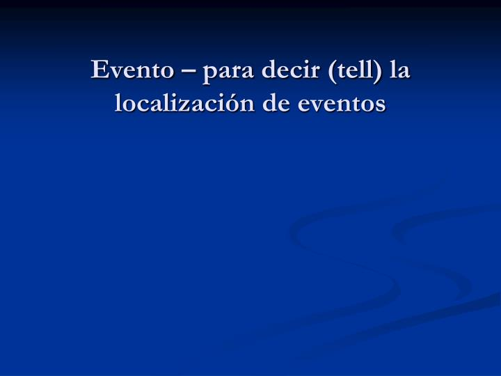 Evento