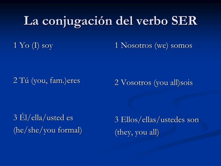 La conjugaci n del verbo ser
