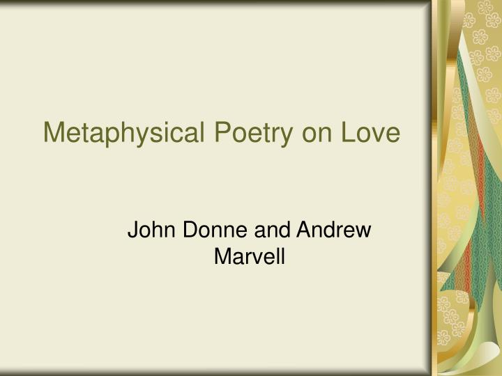 metaphysical poetry on love n.