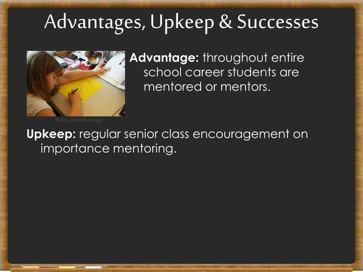 Advantages, Upkeep & Successes