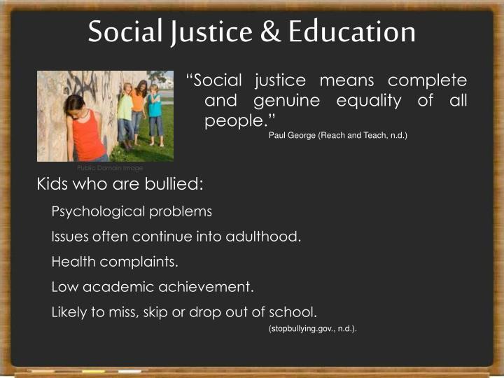 Social Justice & Education
