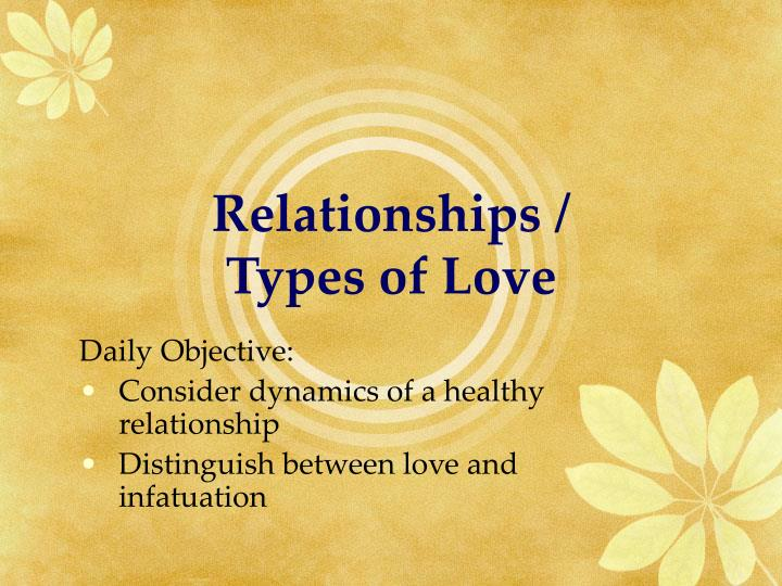 relationships types of love n.