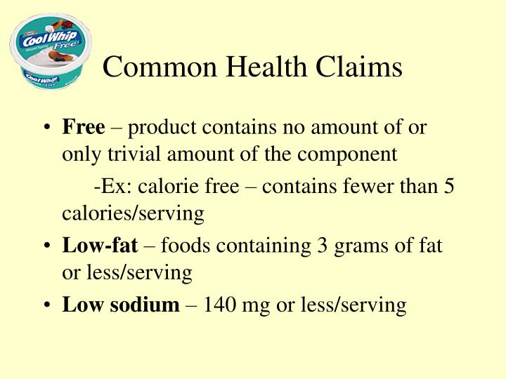 Common Health Claims