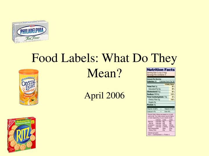 Food labels what do they mean