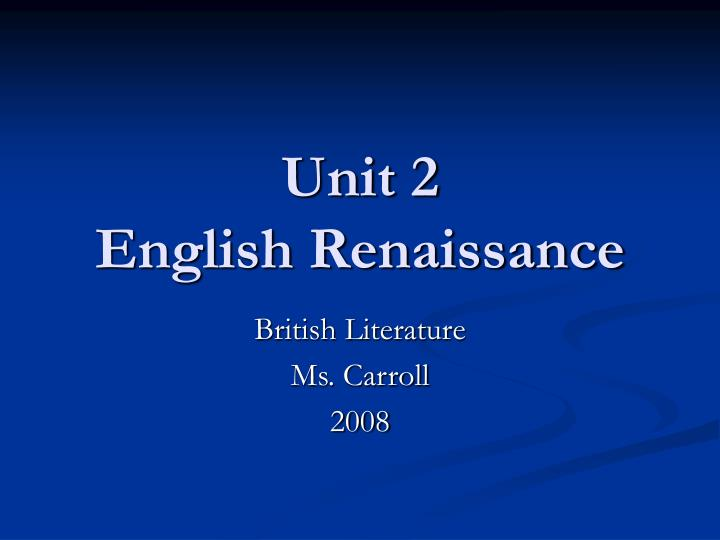 english renaissance literature essay This free english literature essay on the harlem renaissance is perfect for english literature students to use as an example.