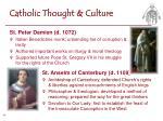 catholic thought culture