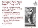 growth of papal power pope st gregory vii