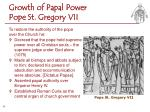 growth of papal power pope st gregory vii1