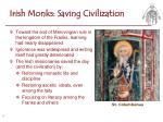 irish monks saving civilization