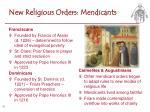 new religious orders mendicants