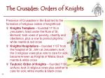 the crusades orders of knights