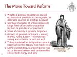 the move toward reform