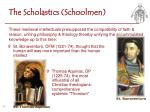 the scholastics schoolmen