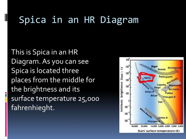 Spica hr diagram wiring diagram database ppt spica the star powerpoint presentation id 7059980 rh slideserve com simple hr diagram simple hr ccuart Choice Image