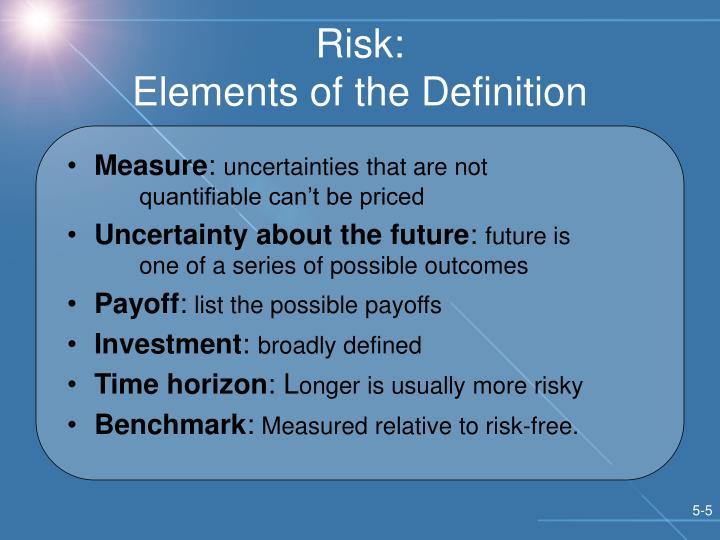 Risk: