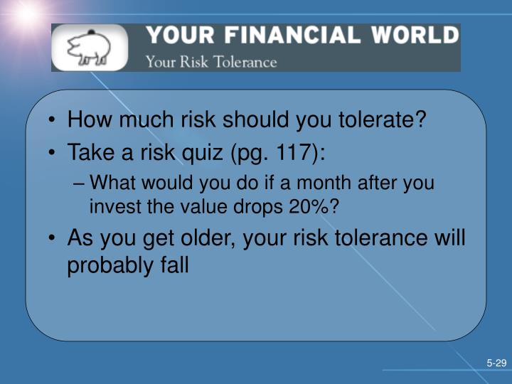 How much risk should you tolerate?