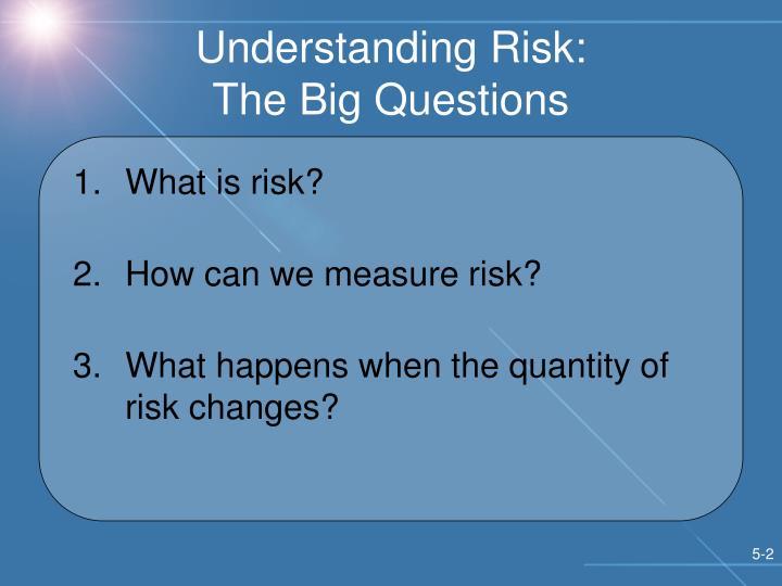 Understanding risk the big questions