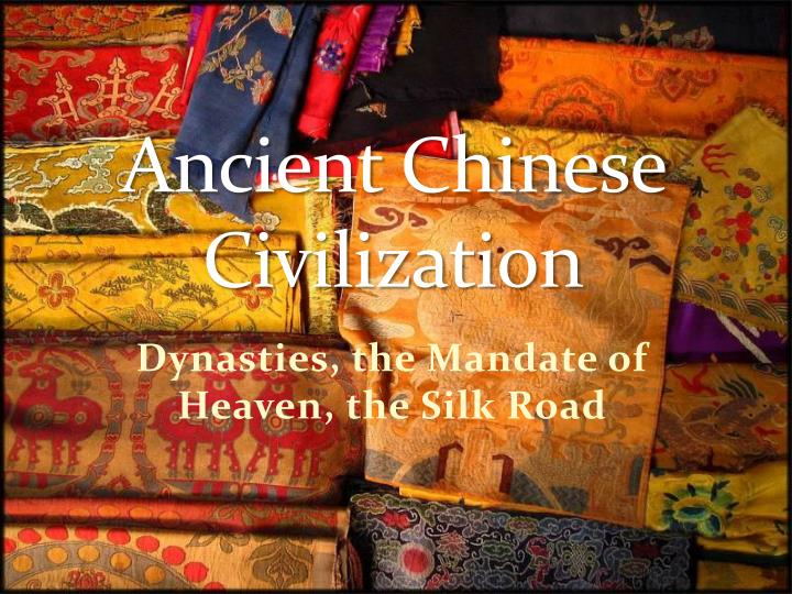 comparing the ancient chinese civilization and China was one of the cradles of the human race the chinese nation is not only the most populous but also one of the oldest in the world the first light of chinese civilization revealed itself 7,000 to 8,000 years ago, as indicated by the ruins of the daxi culture in sichuan and hubei provinces, the.