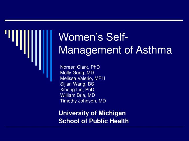 women s self management of asthma n.