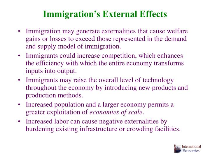 Immigration's External Effects