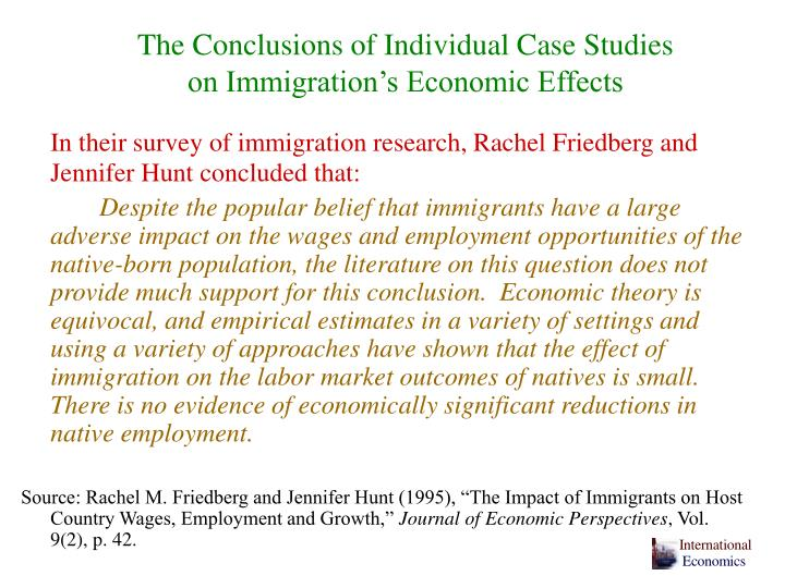 The Conclusions of Individual Case Studies