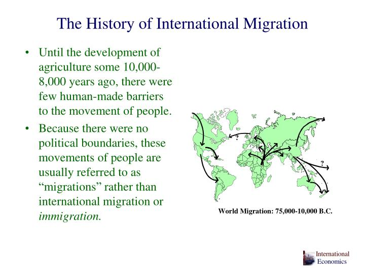 The history of international migration