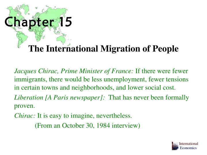 The international migration of people